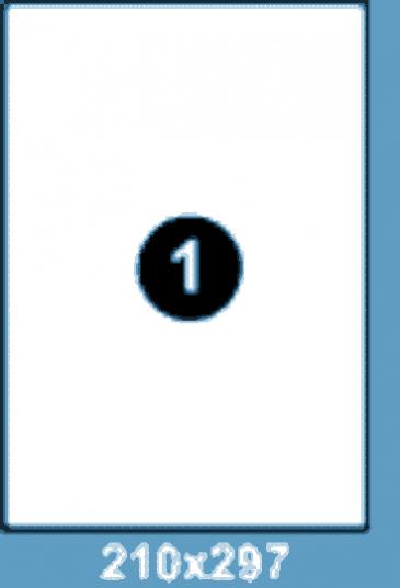 Самоклеющиеся этикетки А4 SMART 210x297