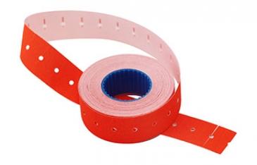 Этикет-лента 21х12х1000 красная,прямоугольная