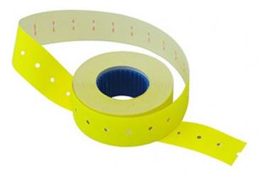 Этикет-лента 21х12х1000 желтая,прямоугольная