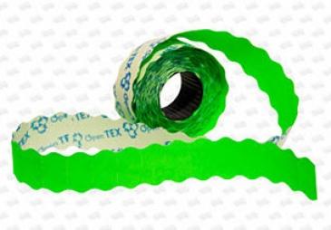 Этикет-лента 26X12X1000 зелёная, волна