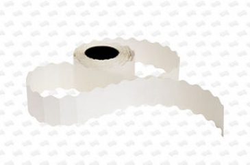 Этикет-лента 26X12X1000 белая, волна