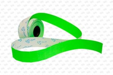 Этикет-лента 26X16 зелёная, прямоугольная