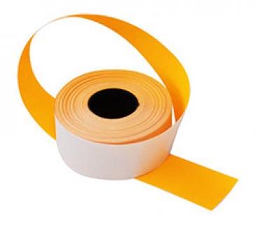 Этикет-лента 26X16 оранжевая, прямоугольная