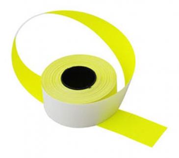 Этикет-лента 26X16 жёлтая, прямоугольная