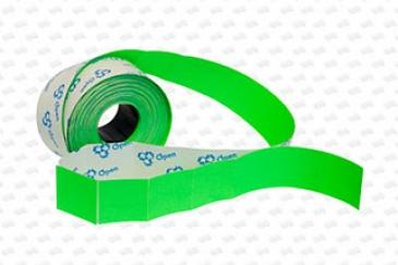 Этикет-лента 29X28 зелёная, прямоугольная