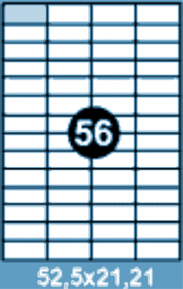 Самоклеющиеся этикетки А4 SMART 52,5x21,21