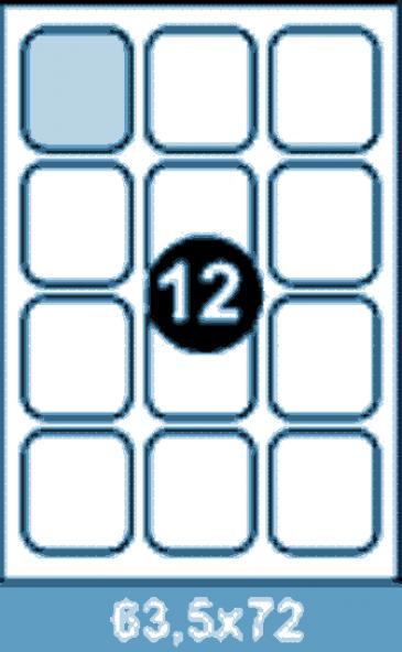 Самоклеющиеся этикетки А4 SMART 63,5x72