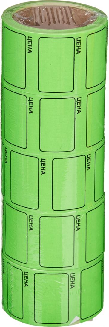 """Этикет-лента 48х44 зелёная, с надписью """"цена"""""""
