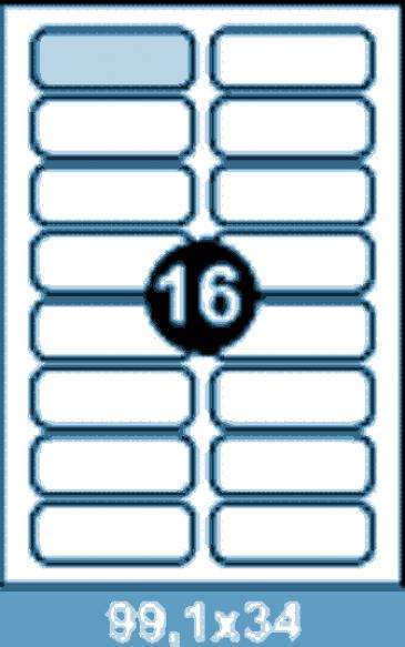 Самоклеющиеся этикетки А4 SMART 99,1x34