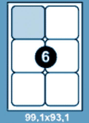 Самоклеющиеся этикетки А4 SMART 99,1х93,1