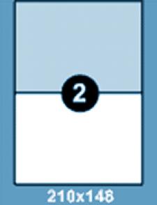 Самоклеющиеся этикетки А4 SMART 210x148