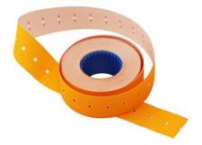 Этикет-лента 21х12х1000 оранжевая,прямоугольная