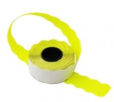 Этикет-лента 22X12X1000 желтая, волна