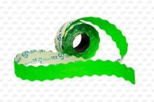 Этикет-лента 26X16X1000 зеленая, волна