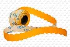 Этикет-лента 26X12X1000 оранжевая, волна