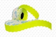 Этикет-лента 26X16X1000 желтая, волна