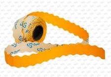 Этикет-лента 26X16X1000 оранжевая, волна