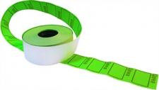 """Этикет-лента 29X28 зеленая, с надписью """"цена"""""""