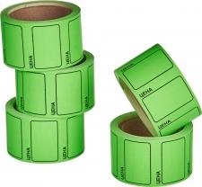 """Этикет-лента 30х20 зелёная, с надписью """"цена"""""""