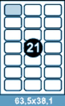 Самоклеющиеся этикетки А4 SMART 63,5x38,1