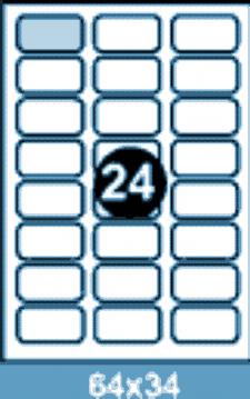 Самоклеющиеся этикетки А4 SMART 64x34