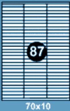 Самоклеющиеся этикетки А4 SMART 70x10