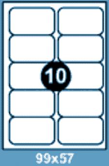 Самоклеющиеся этикетки А4 SMART 99х57