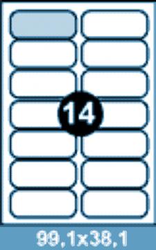 Самоклеющиеся этикетки А4 SMART 99,1х38,1