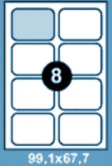 Самоклеющиеся этикетки А4 SMART 99,1х67,7